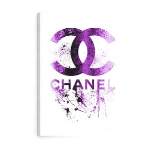 Chanel Logo Canvas Print with Frame
